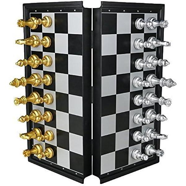 TONZE Ajedrez Magnetico Juegos de Mesa Tablero de Ajedrez con Caja Set Ajedrez Magnetico Plegable Fácil Llevar para Viajar Juego Ajedrez para Niños Infantil Adulto, 25 x 25 cm: Amazon.es: Juguetes y
