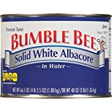 Bumble Bee Solid White Albacore Tuna in Water, 66.5 Ounce Can