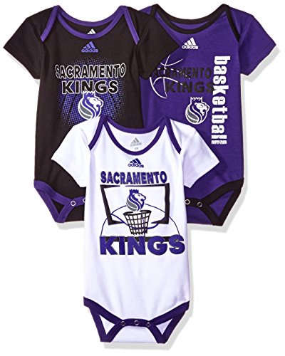 Ki Baby Clothes - NBA Infant Sacramento Kings 3 Point Bodysuit Set-Regal Purple-12 Months