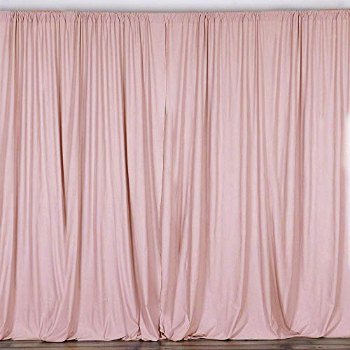 AK TRADING CO. 10 feet x 10 feet Polyester Backdrop Drapes Curtains Panels with Rod Pockets - Wedding Ceremony Party Home Window Decorations - Blush -