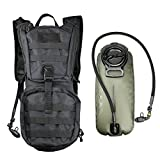 Besiva Tactical Hydration Pack Backpack with 3L Water Bladder, Durable and Lightweight, for Cycling, Hiking, Running, Climbing, Hunting, and more