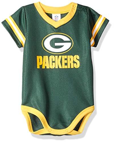 (NFL Green Bay Packers Unisex-Baby Dazzle Bodysuit, Green, 3-6 Months)