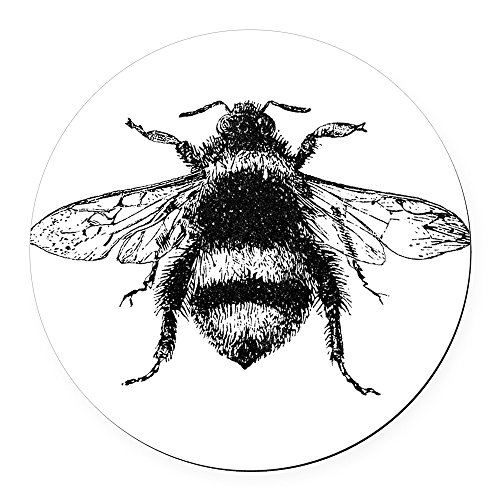 CafePress - Vintage Honey Bee - Round Car Magnet, Magnetic Bumper - Cause Bee Honey