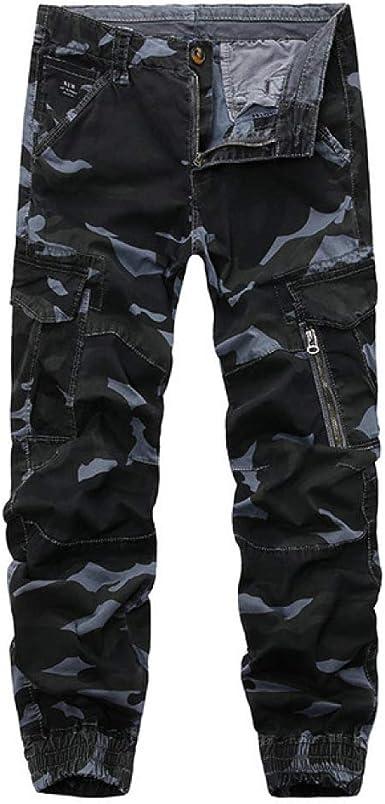 Loeay Pantalones de Camuflaje Cargo para Hombre Multi ...