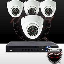 Ninja 4 Megapixel IP Eyeball Dome Camera 4CH Kit (White)