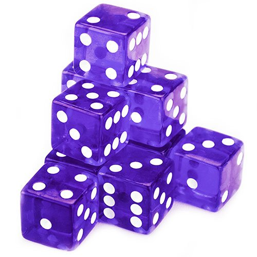 (Brybelly 10 Count 19mm Dice (Purple))