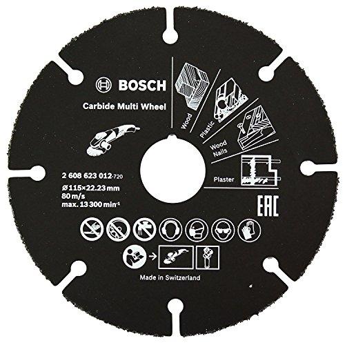 Disco de Esmerilhadeira para Madeira 115mm Bosch, 2608623012-000, Preto