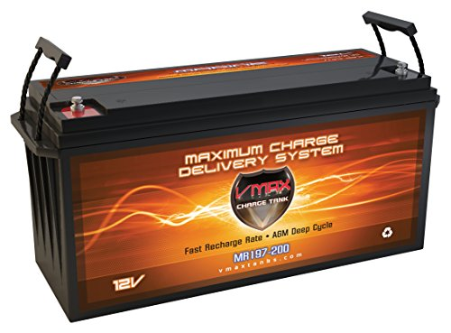 (Vmaxtanks VMAX MR197 12 Volt 200AH AGM SLA Marine Deep Cycle HI Performance Battery)