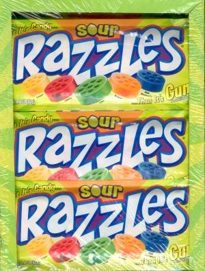 Razzles Sour - Sour Razzles Gum