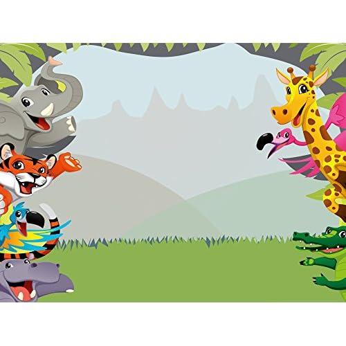 muzi photography backdrops jungle safari themed animals birthday