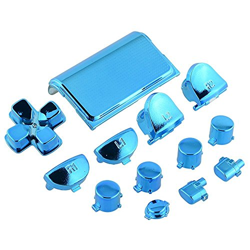 ZYJ-AWASA Replacement Touch Pad Thumbsticks Dpad Home Buttons Set PS Controller Buttons for PS4 Controller - Blue (For Gen. 1 Controllers)