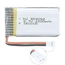 Ownsig 3.7V 1200mAh Lipo Battery For Syma X5C X5SW X5SC X5A X5 - Batteries Upgrade - Longer Flight Time 2# 3.7V 1200mAh