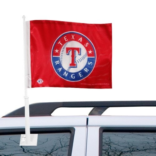 MLB Texas Rangers Car Flag - -