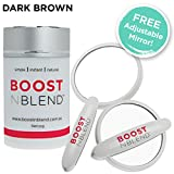 BOOSTnBLEND Dark Brown Hair Loss Concealer with BONUS FREE ADJUSTABLE MIRROR