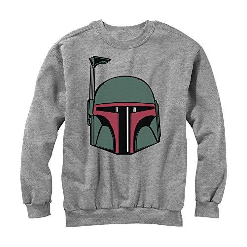 FIFTH SUN Star Wars Boba Fett Helmet Mens Graphic Sweatshirt