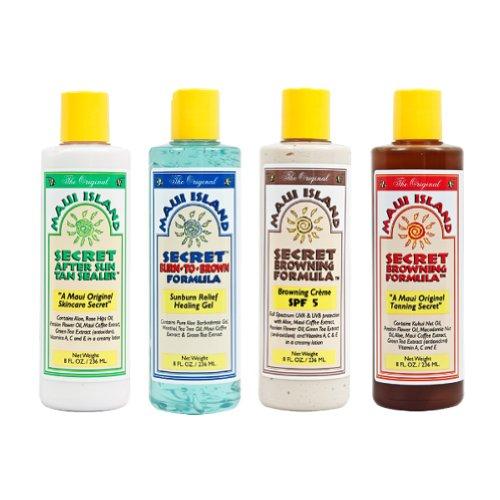 Maui Island Secret Tanning Kit 4 bottles 8 oz. each