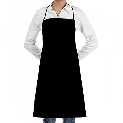 Delantal con bolsillo Color puro para barbacoa, hornear, cocinar