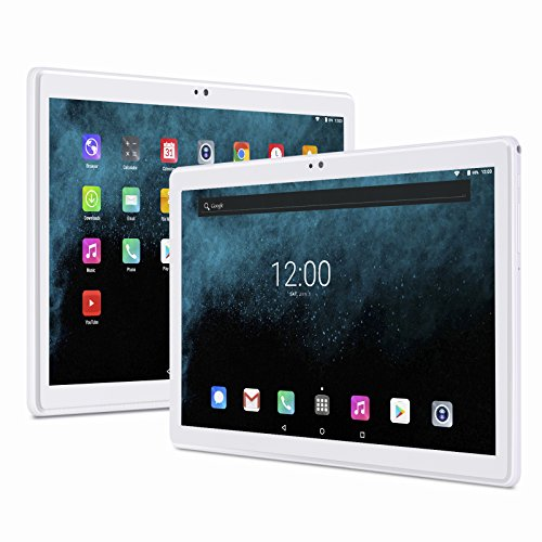 Xgody T1004 2GB RAM 32GB Emmc Unlocked Tablet PC Phone Support 4G LTE/3G/2G Network Android 7.0 MTK 6580 Octa Core 10.1'' 2.5D Glass 1920x1200 FHD IPS Support Wifi Bluetooth 4.0 Dual SIM Cards Silver
