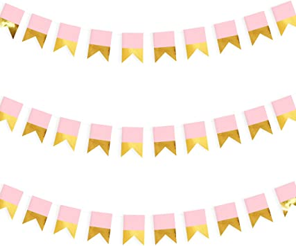 Girl and Boy HAPPY BIRTHDAY Party Decorating Banner Flags Hanging in the Room