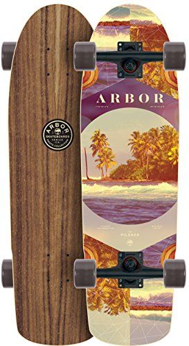 Arbor Pilsner Walnut 2017 Complete Mini Longboard Skateboard New
