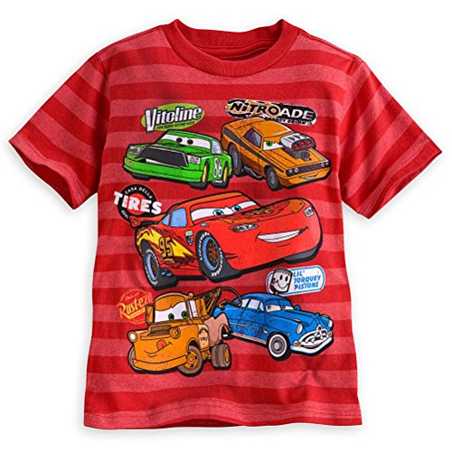 Disney Store Cars Lightning Mcqueen Boy Red Short Sleeve T Shirt Tee Size 5/6