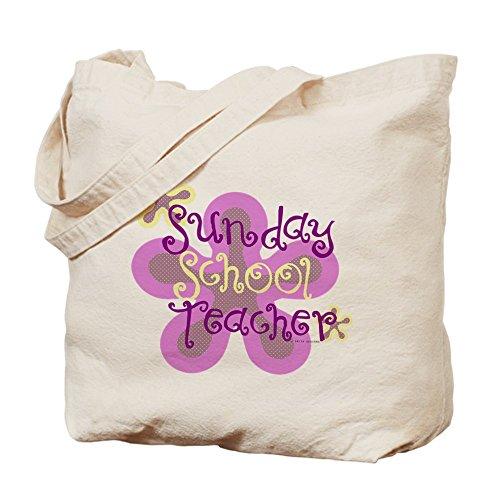CafePress–Sunday School Teacher–Gamuza de bolsa de lona bolsa, bolsa de la compra