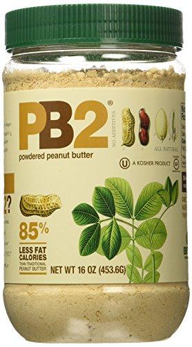 PB2 - Bell Plantation Peanut Butter, 1 lb Jar 16oz (4-pack)