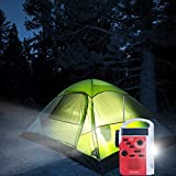 Tiemahun Dynamo Solar Hand Crank Emergency FM/AM/SW NOAA Alert Radio with MP3 Player Support SD Card LED Flashlight Reading Lamp Siren and 2300mAh Power Bank