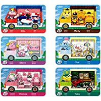 6 pcs For Animal Crossing New Horizons ACNH Sanrio Amiibo Collaboration Pack Mini card, RV Villager Furniture Compatible…