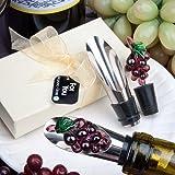 Best Fashioncraft Wine Accessories - 1 X Murano Glass Collection Grape Design Wine Review