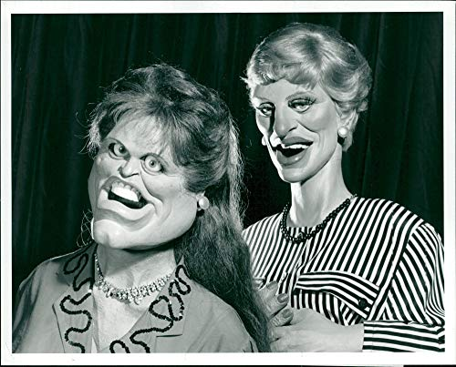 Vintage photo of Spitting Image British television show:Fergie and princess.