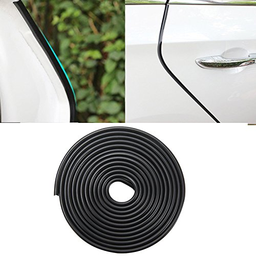 Amison 13Ft(4M) Car Door Edge Guards U Shape Edge Trim Rubber Seal Protector Car Protection Door Edge Fit for Most Car