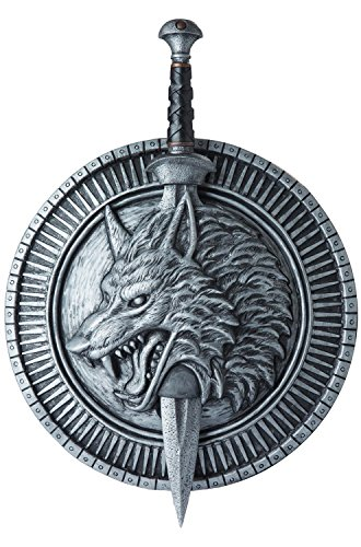 California Costumes Men's Wolf Master Shield & Sword, Silver/Black, One Size