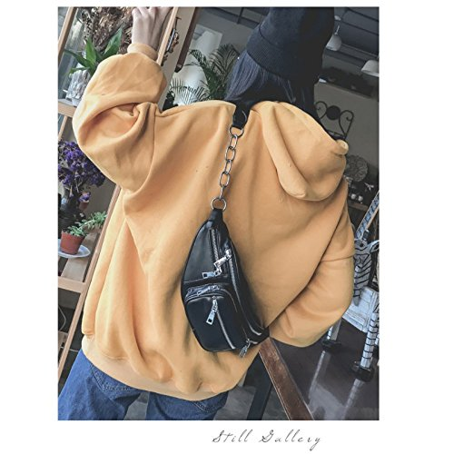 College Shoulder LYFLYF Wild Diagonal Personality Wind Package Chest Pockets Leisure Fashion qwOwBERf