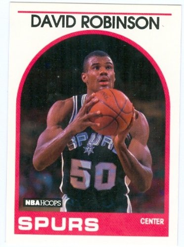 David Robinson basketball card 1989 NBA Hoops #310 (San Antonio Spurs) Rookie Card