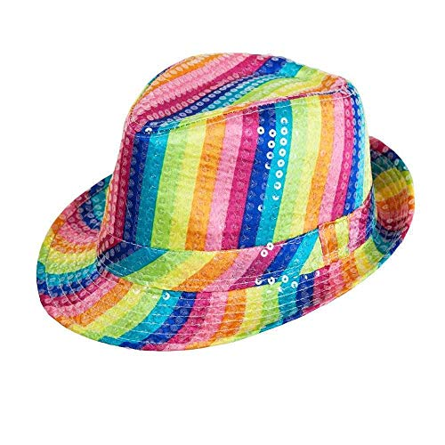 LED Light Up Flashing Fedora Hat - Various Colors by Mammoth Sales (Colorful)]()