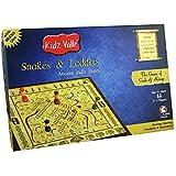Kidz Valle Paramapadam, Paramapada Sopanam, Snakes and Ladders, Haavu Eni Aata , Moksha Pata, Indian Traditional Board Game Board Game - Blue