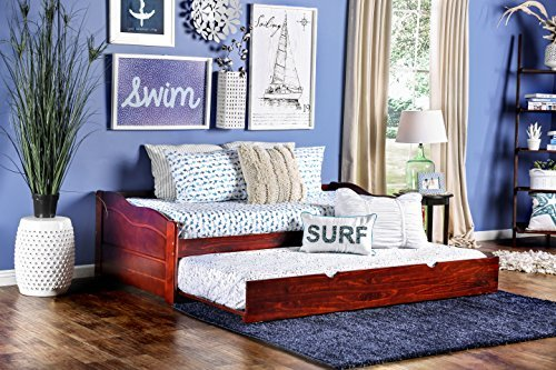 (Furniture of America Modal Daybed with Trundle, Dark Cherry)