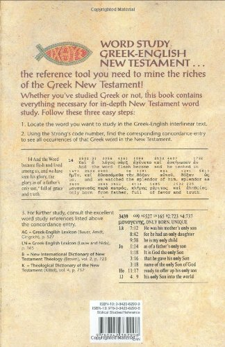 Word Study Greek-English New Testament: with complete concordance by Tyndale House Publishers