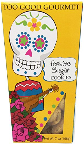 Too Good Gourmet Day of The Dead Cookie Gift Box (Festive Sugar), 7 Ounce - Day Sugar Cookies