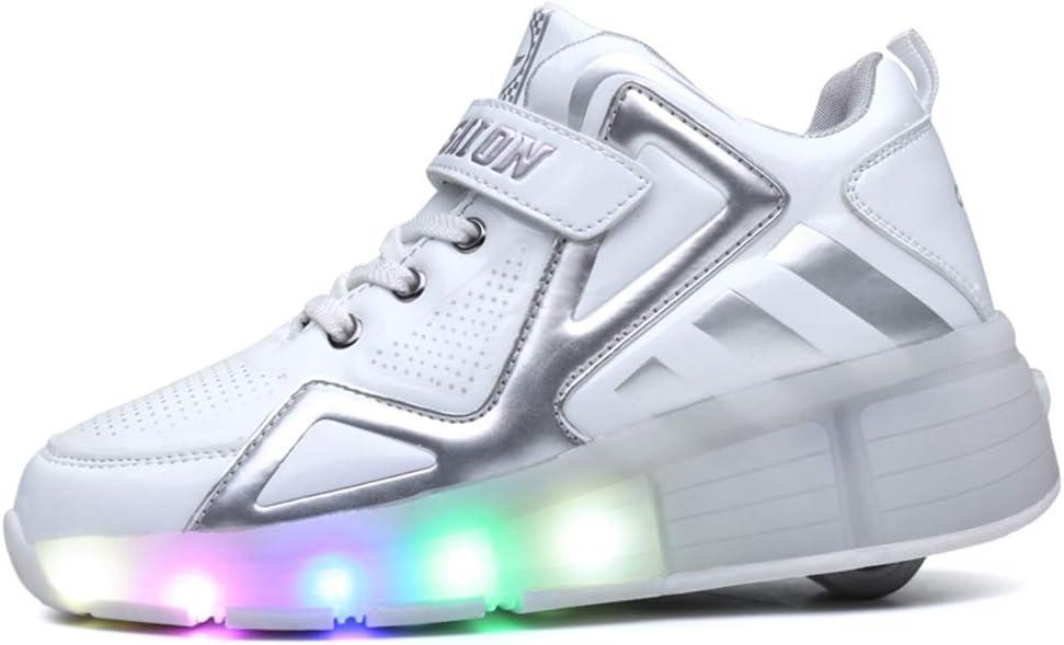 LHZTZKA Zapatos con Ruedas Unisex Led Luz Automática de Skate Zapatillas con Ruedas Zapatos Patines Deportes Zapatos para Niños Niñas: Amazon.es: Deportes y aire libre