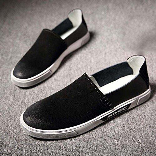 ZXCV Zapatos al aire libre Los zapatos ocasionales de los hombres calzan los zapatos europeos transpirables de los hombres de la tendencia de la manera Negro