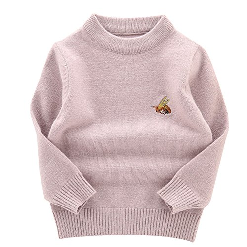 Toddler Baby Boy Gril Pullover Bee Wool Infant Kids Knitted Sweater Purple 80 (Purple Sweater Wool)