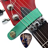 Creanoso Acoustic Guitar Strap Button Green - Gets Rid of the Messy String used to tie on your Guitar Strap - Great Guitar Accessories