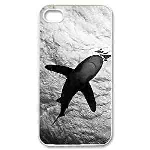 QNMLGB Hard Plastic of Deep Sea Shark Cover Phone Case For Iphone 4/4s [Pattern-5]