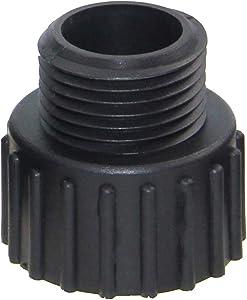 "FLUENTPOWER 3/4"" Standard Garden Hose Fitting for Submersible Sump Pump, Convert MNPT 1"" to GHT 3/4"" Thread"