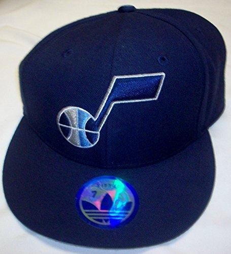 Utah Jazz Fitted Flat Bill Adidas帽子 – サイズ7 – tq99 K   B010R749Q6