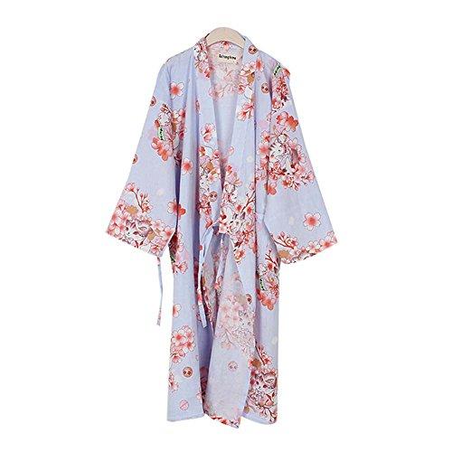 [Cat] Light Purple Cotton Pajamas Loose Pajamas Khan Steamed Clothing (Yukata Cotton)