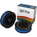 UP Fila C-22-04 PLA Plastic Filament, Blue, 2 x 500 g Rolls (Pack of 2)