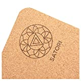 SatoriConcept Cork Yoga Mat - 100% Eco Friendly Cork & Rubber,...